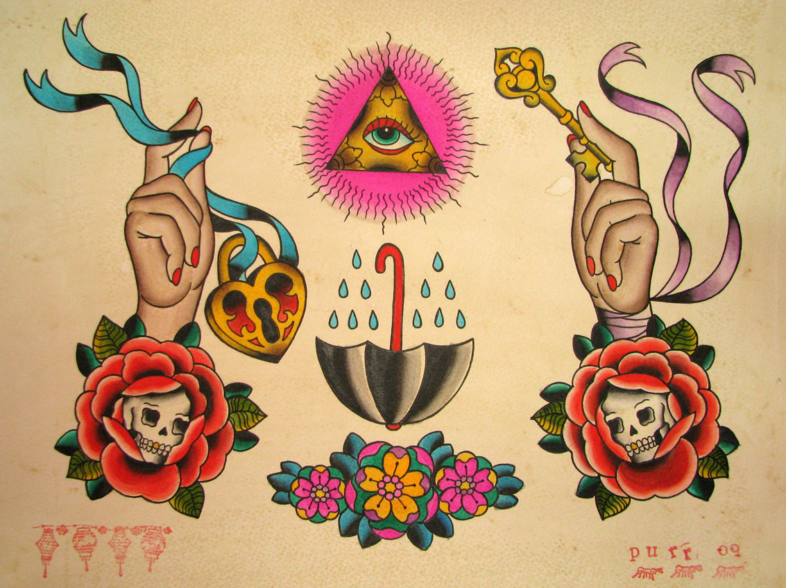 All seeing eye sara purr tattoo for Traditional tattoo flash