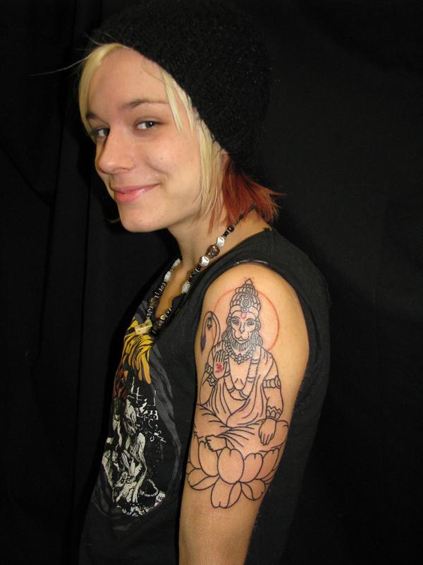half sleeve tattoo religious. Religious/Deity tattoos
