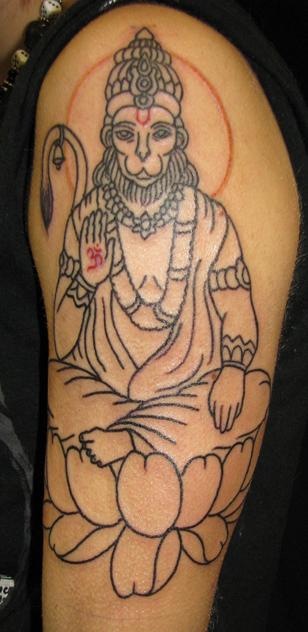Hanuman Sleeve Tattoo god | Sara Purr Tattoo
