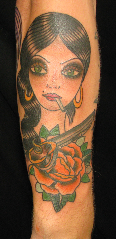 pistol tattoos. Posted in flower tattoos,