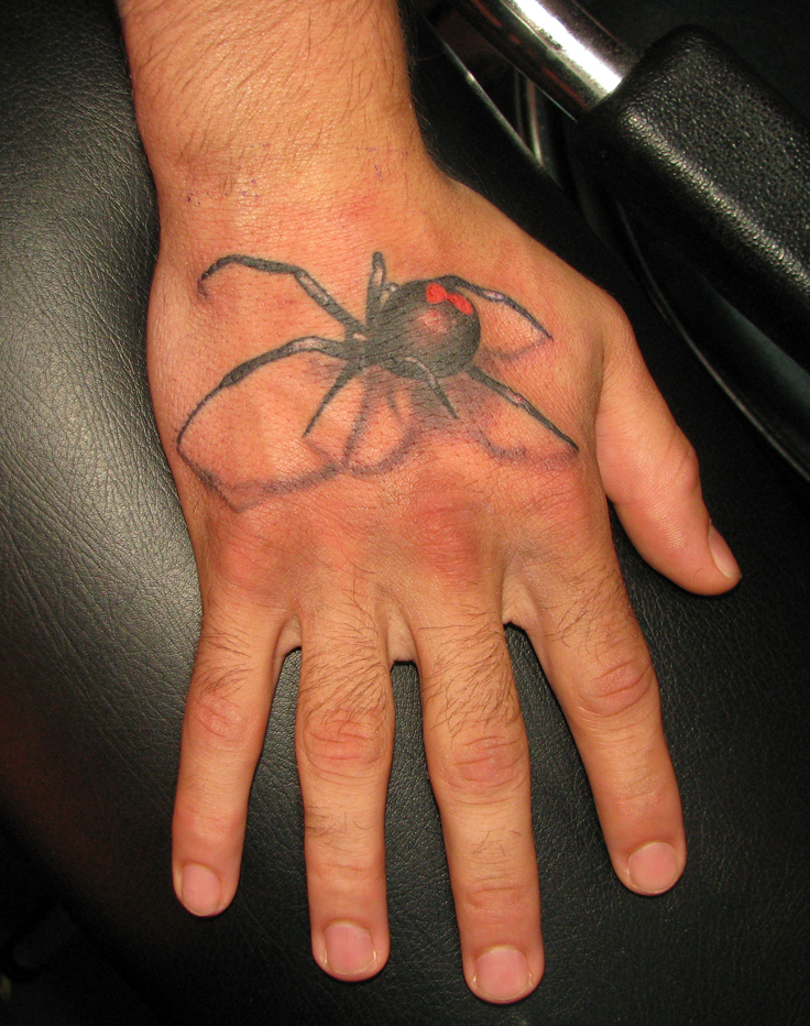 blackwidow tattoos with spiders significance