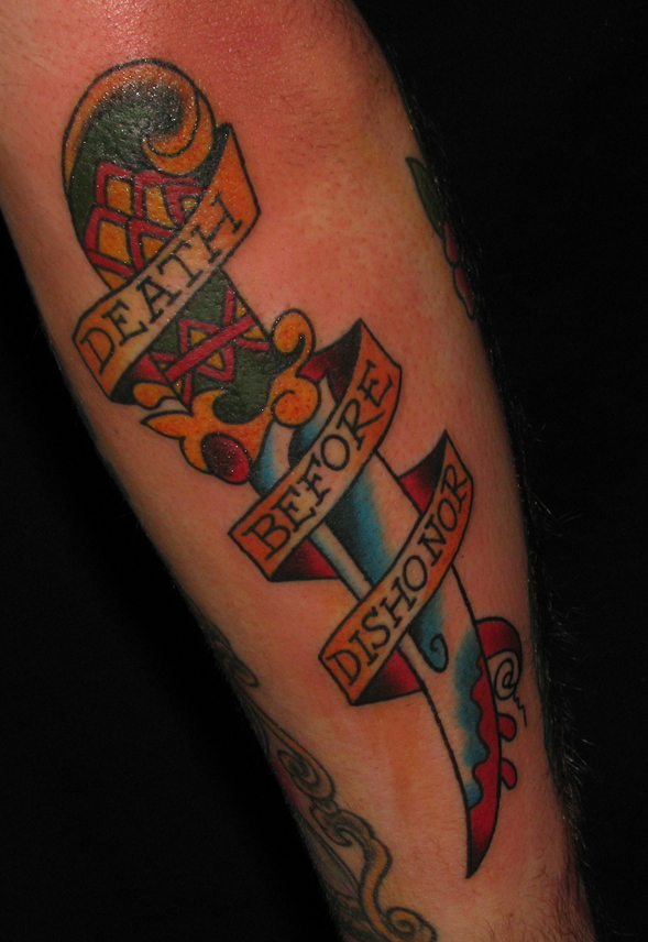 death before dishonor tattoo. Death Before Dishonor.