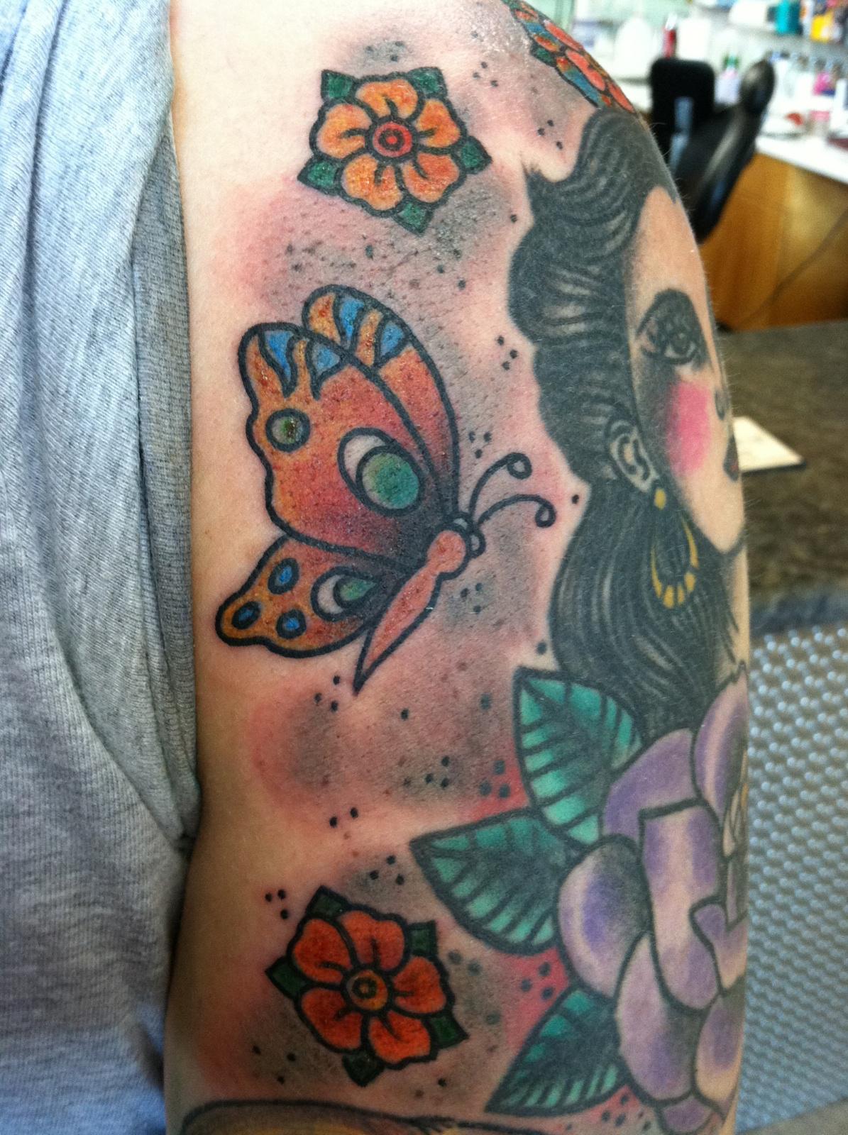 half sleeve | Sara Purr Tattoo