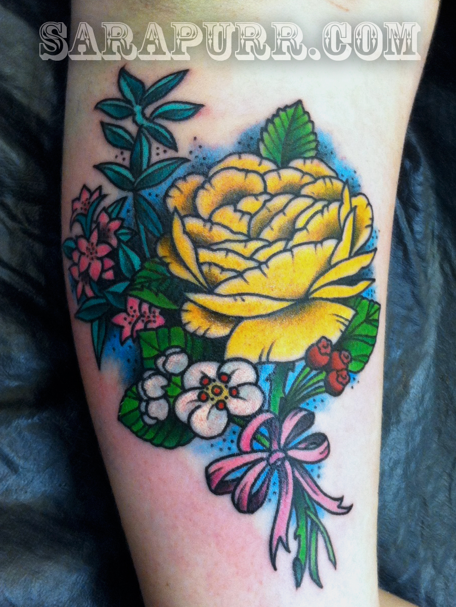 Traditional Flower Tattoos: Traditional American Tattoos