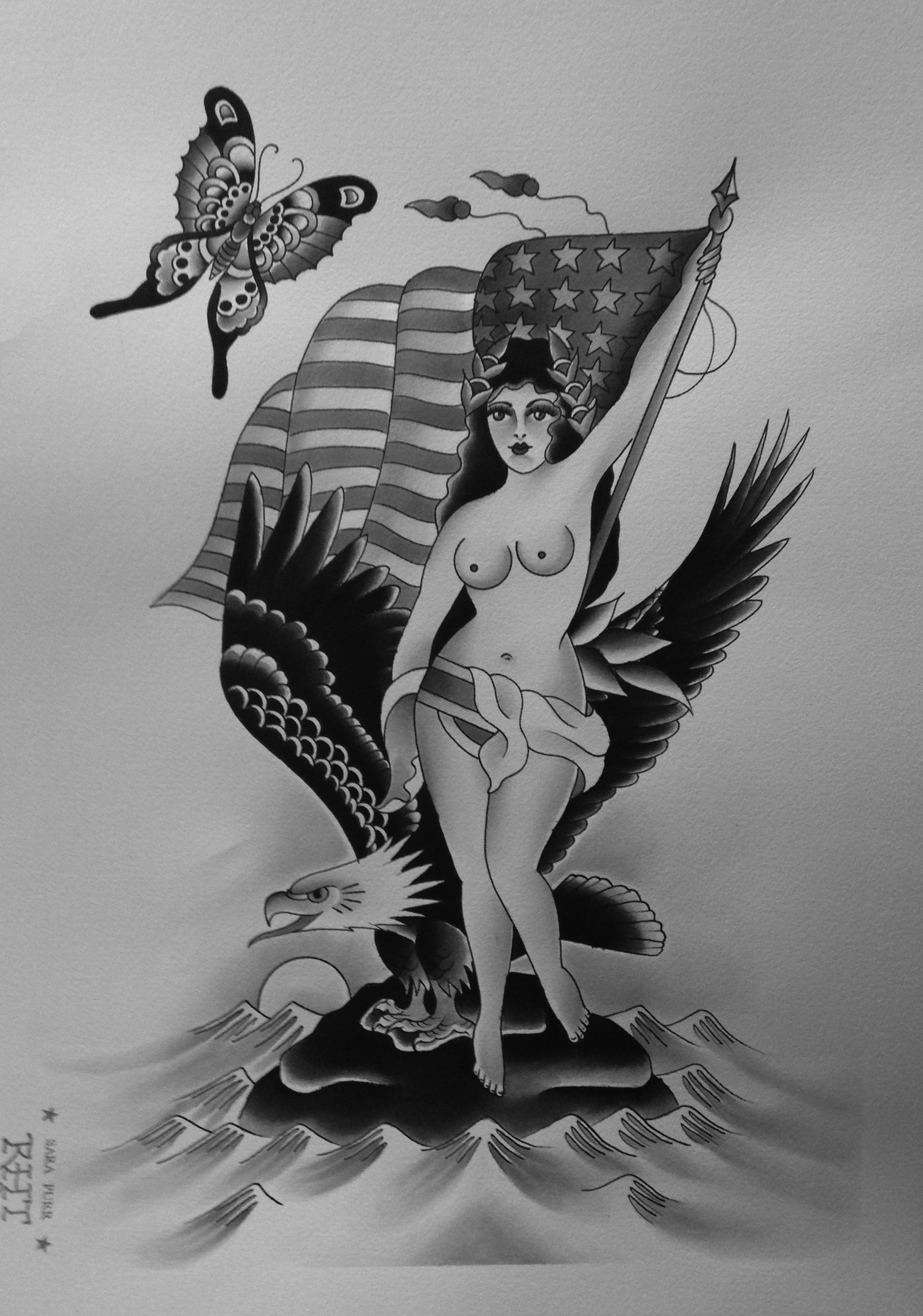 Lady Tattoos Sara Purr Tattoo